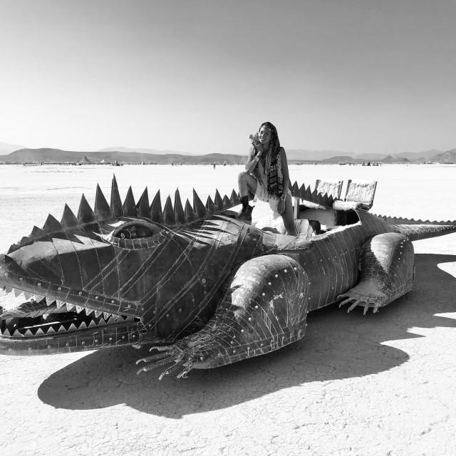 """Lizard tamer - Burning Man 2018"" stock image"