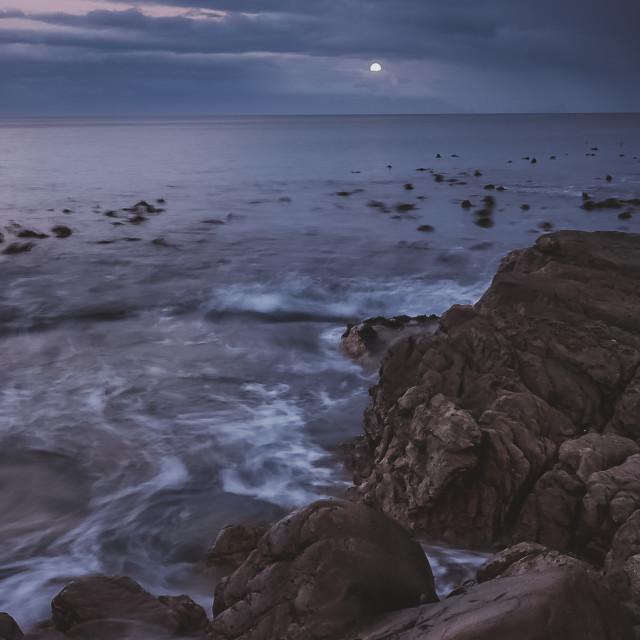 """Full moon rising"" stock image"