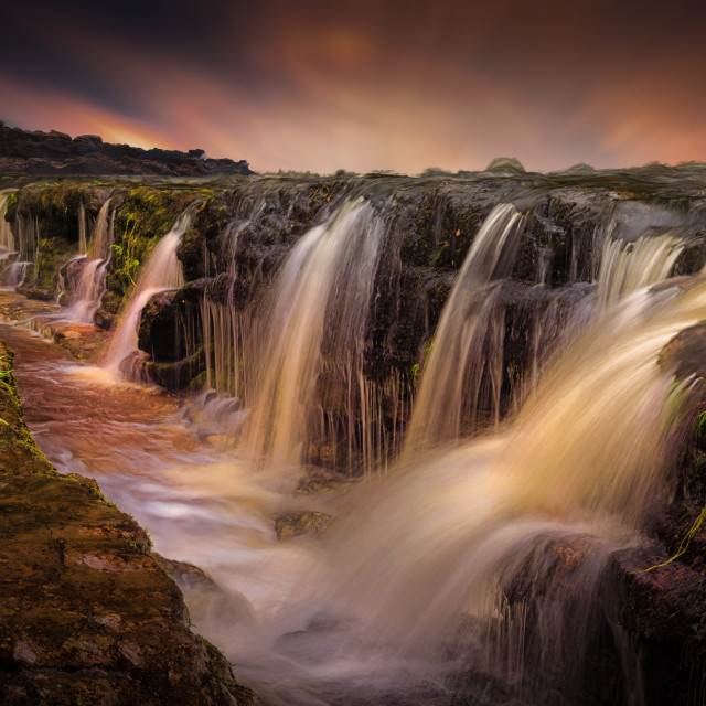 """The waterfall and the gully"" stock image"