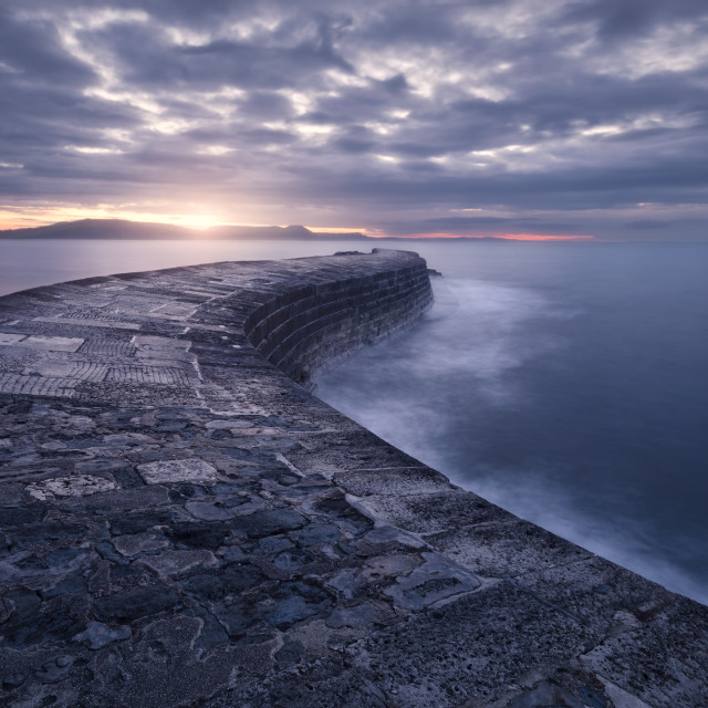 """Lyme Regis Cobb"" stock image"
