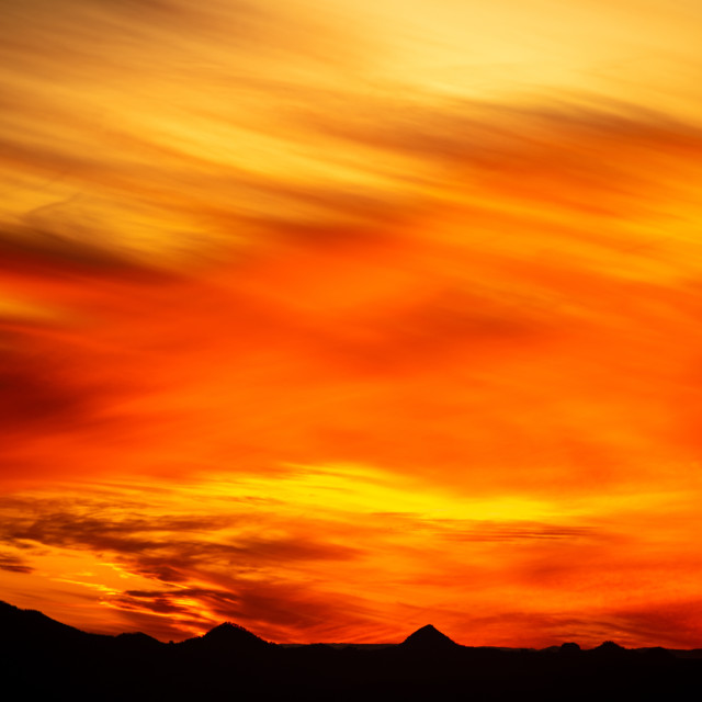 """Red Sky Sunset"" stock image"