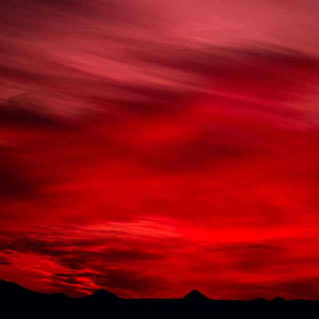 """Blood Red Sunset"" stock image"