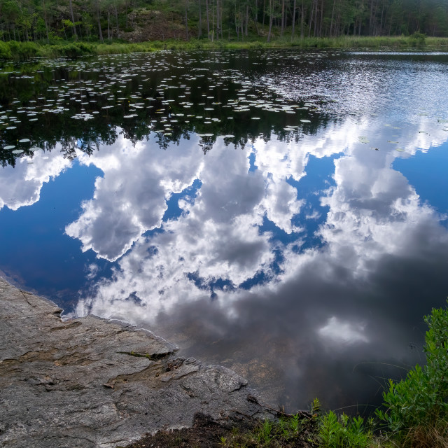 """""""Cloud reflections"""" stock image"""