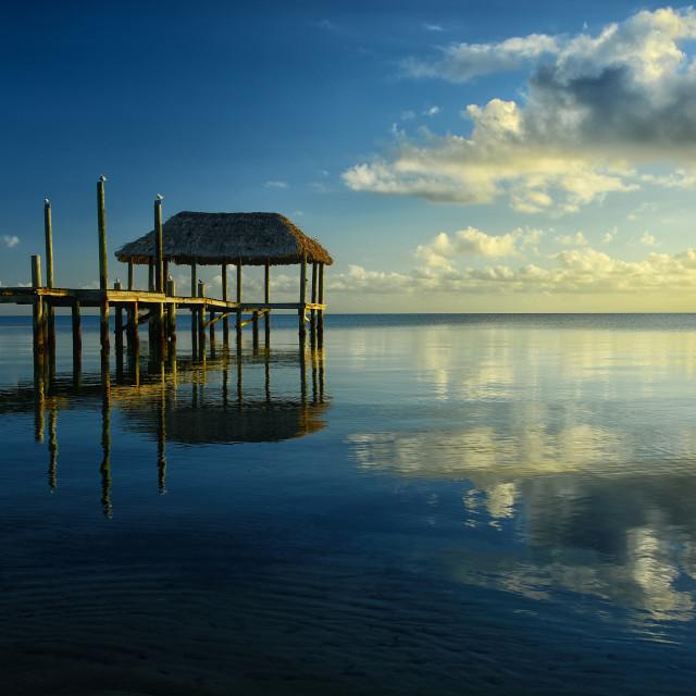 """Morning at the Caribbean sea"" stock image"