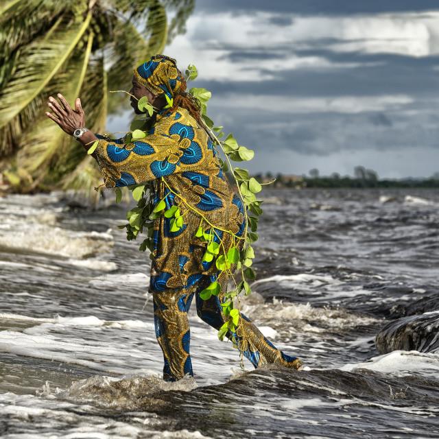 """Garifuna Settlement Day Re-enactment"" stock image"