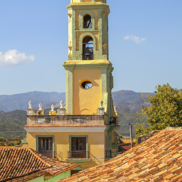 """""""Bell tower of church in Cuba"""" stock image"""