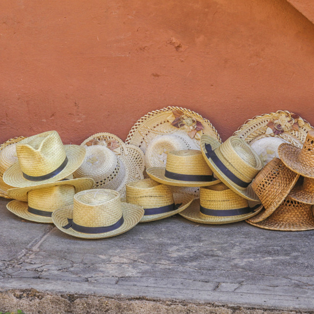 """Straw hats"" stock image"