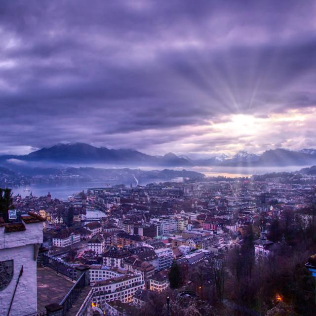 """Swiss Morning"" stock image"