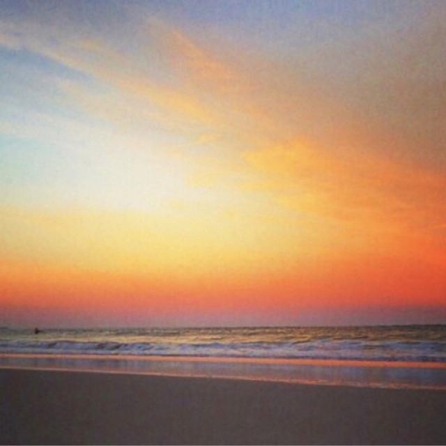 """Don't look back - Sunset, Jacksonville Beach, FL"" stock image"