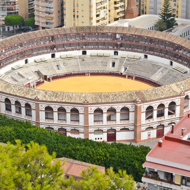 """Bullring, Malaga, Spain"" stock image"