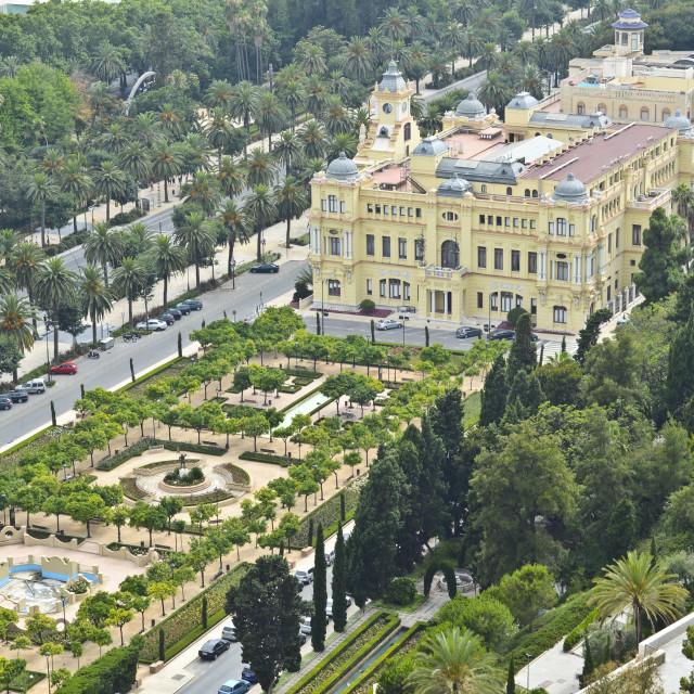 """Malaga Town Hall, Spain"" stock image"