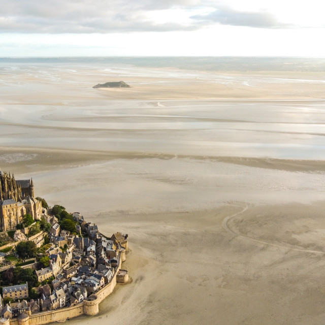 """""""Mont-Saint-Michel and beyond"""" stock image"""