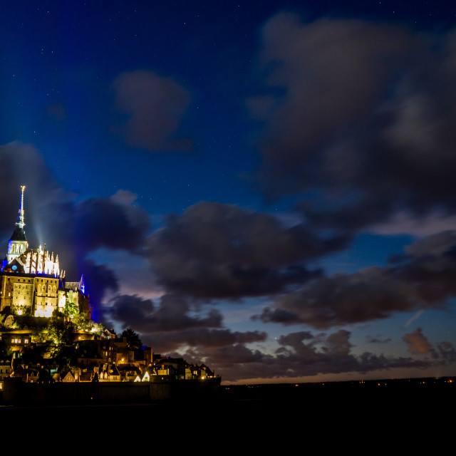 """""""Mont-Saint-Michel by night"""" stock image"""