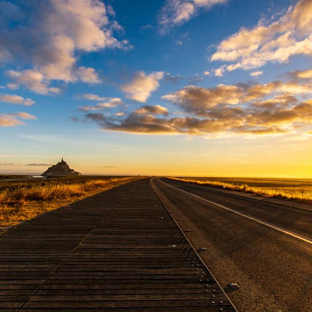 """""""Mont-Saint-Michel Sunrise"""" stock image"""