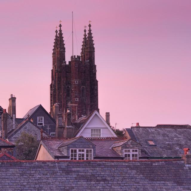"""St Mary's church - Totnes"" stock image"