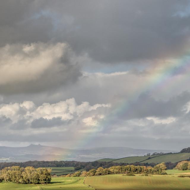 """Rainbow - Denbury Camp"" stock image"