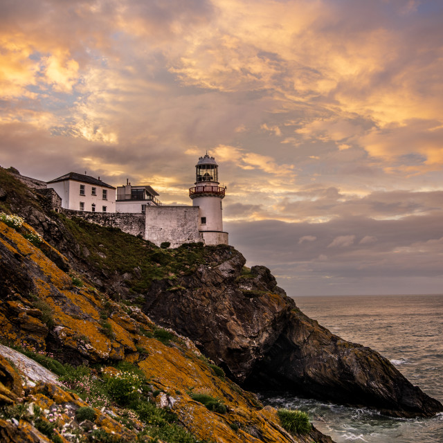 """""""Wicklow Head Lighthouse"""" stock image"""