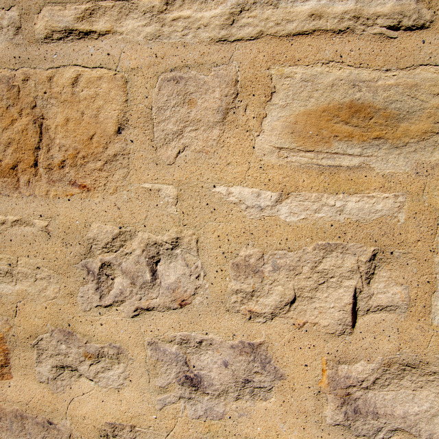 """Photograph of Stone Wall with Mortar Pointing."" stock image"