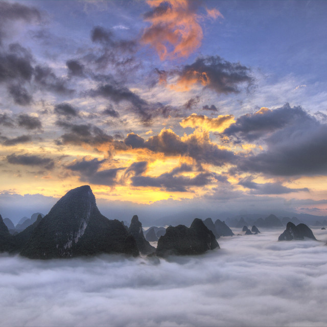 """Sea of clouds dream"" stock image"