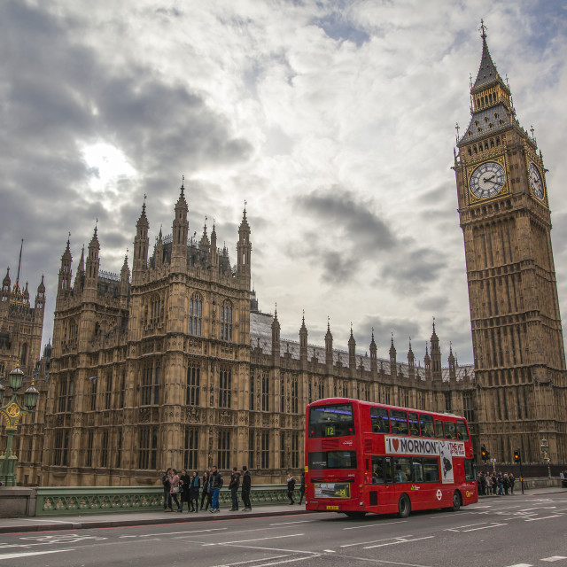 """Houses of Parliament, London, England"" stock image"
