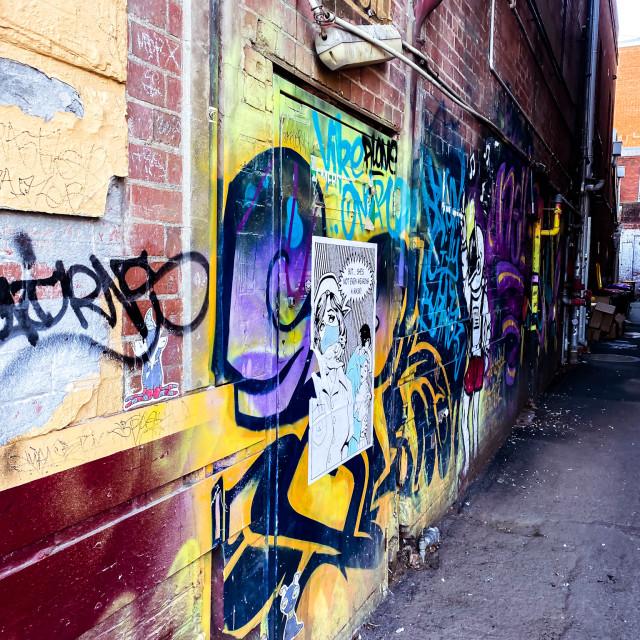 """Graffiti lane"" stock image"