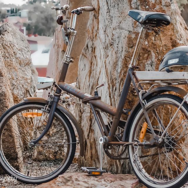 """Retro bike"" stock image"