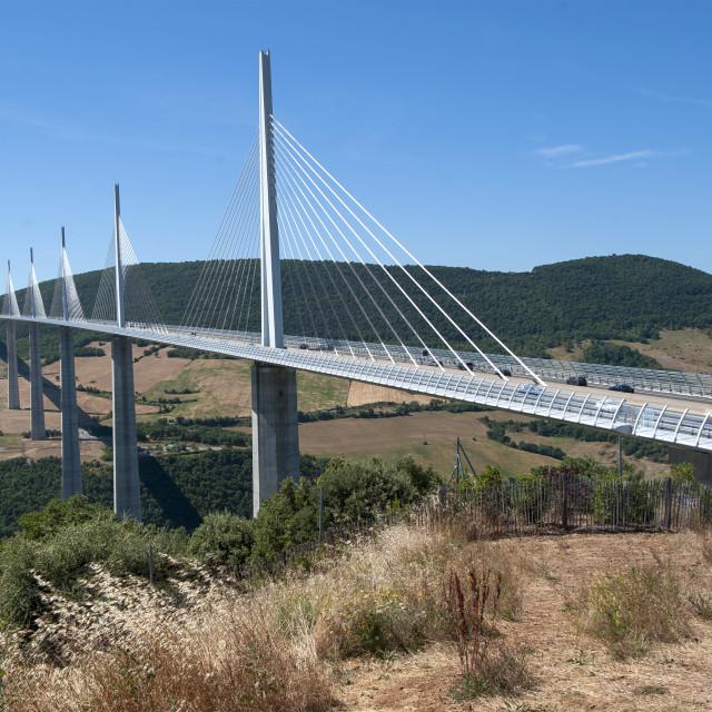 """Viaduc de Millau, Tarn, France"" stock image"