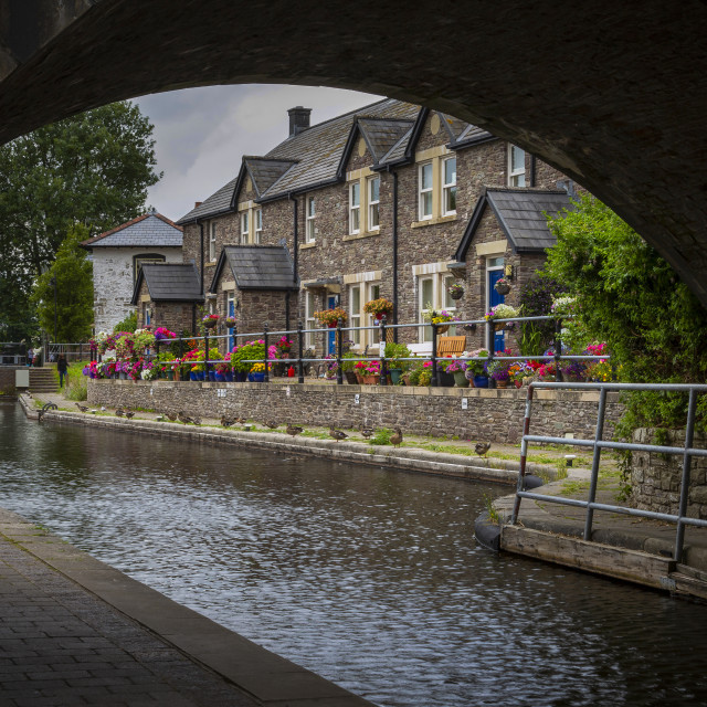 """The Monmouthshire & Brecon Canal"" stock image"