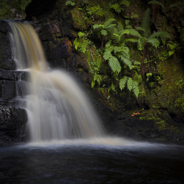 """A Brecon Beacons waterfall"" stock image"