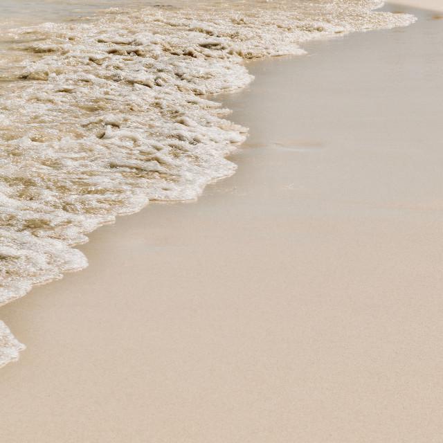 """""""White beach shore, Close"""" stock image"""