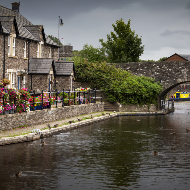 """The Brecon Basin Canal"" stock image"