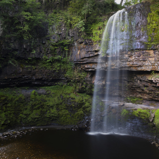 """Henrhyd Falls in the Brecon Beacons National Park"" stock image"