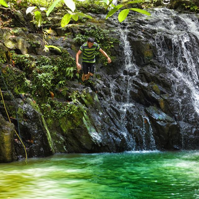 """""""Plunging at Antelope Falls"""" stock image"""