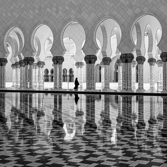 """Balanced - Sheikh Zayed Grand Mosque"" stock image"
