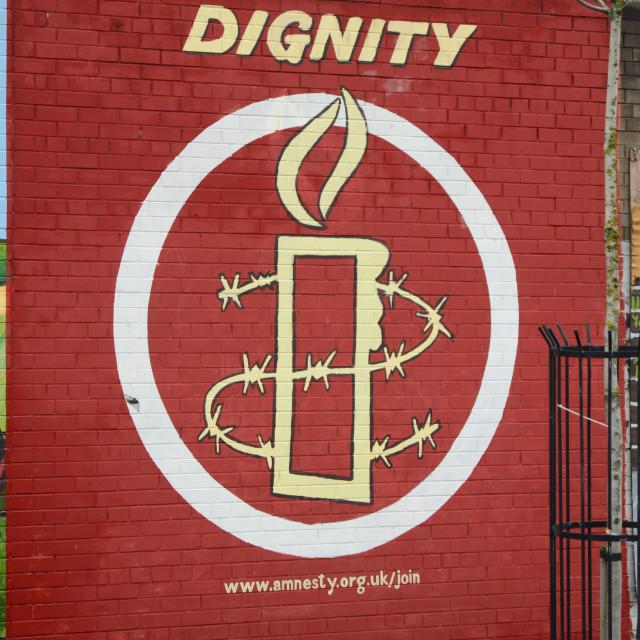 """Belfast Mural"" stock image"