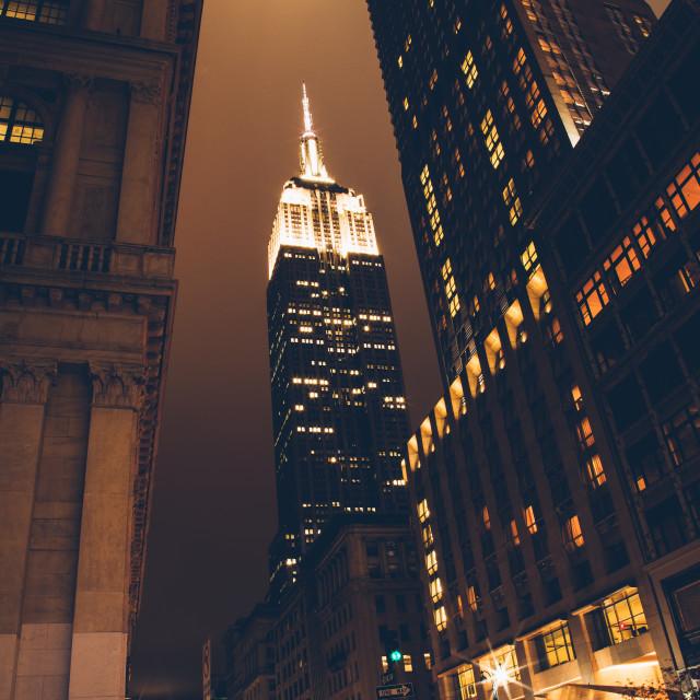 """New York Night"" stock image"
