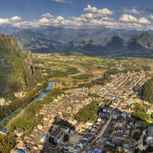 """The village of xingping"" stock image"