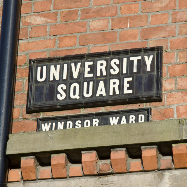 """University Square, Belfast"" stock image"