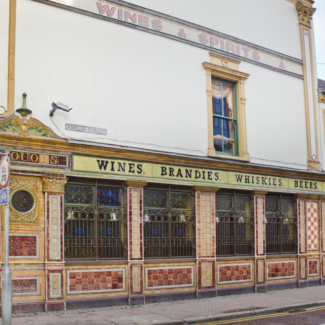 """Crown Liquor Saloon, Belfast"" stock image"