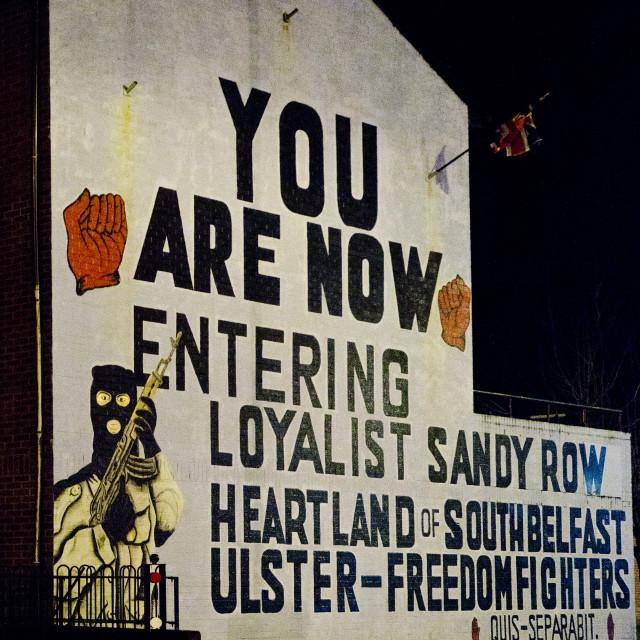 """Sandy Row Mural, Belfast"" stock image"