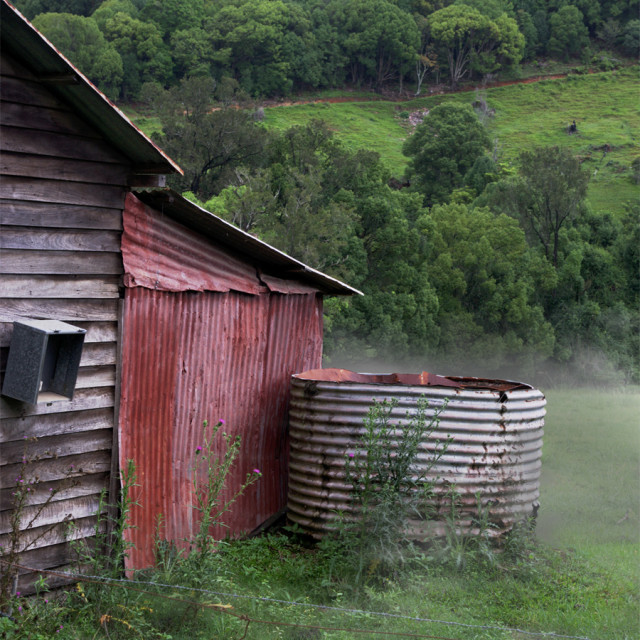 """Dilapidated shed in Currumbin Valley"" stock image"