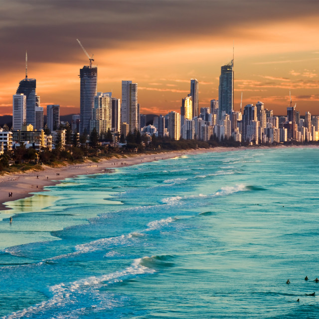 """Gold Coast City going up"" stock image"