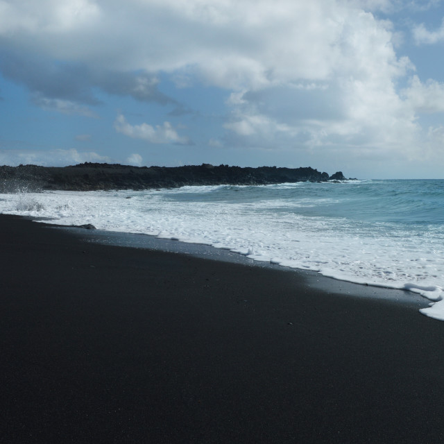 """""""Colors of a Black Beach"""" stock image"""