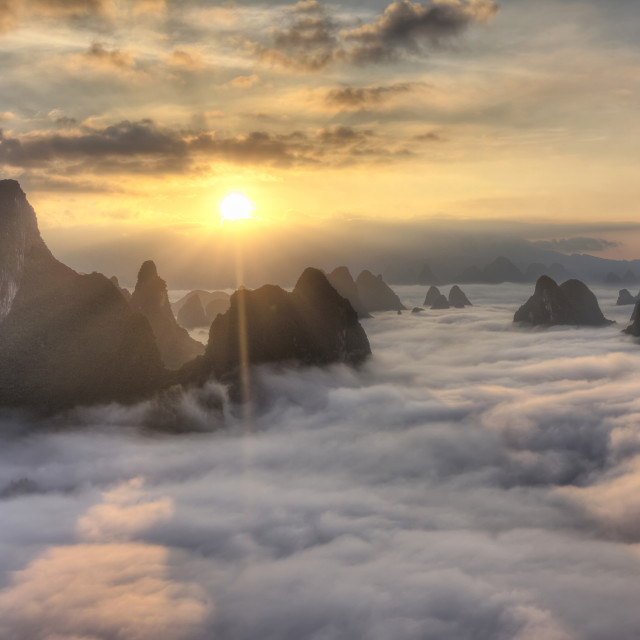 """The karst mountains dream"" stock image"