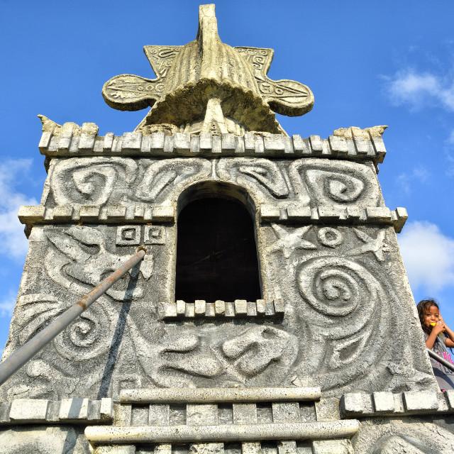 """Mock Mayan temple"" stock image"