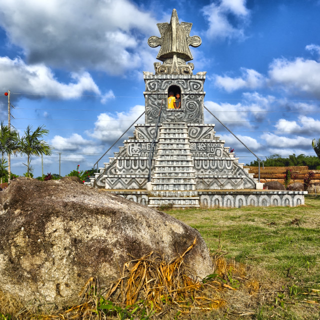 """Mock Temple at Mayan King"" stock image"