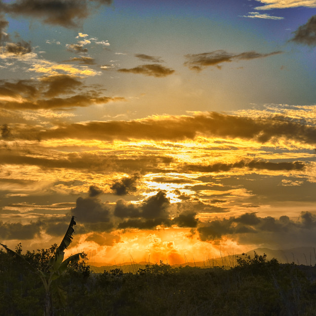 """Belizean Sunset"" stock image"