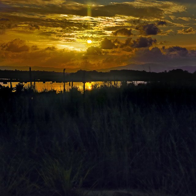 """""""Sunset from Sittee Point"""" stock image"""