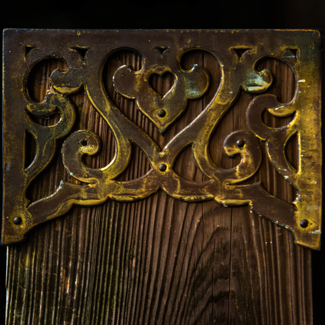 """Hearts in brass decoration in Japan"" stock image"
