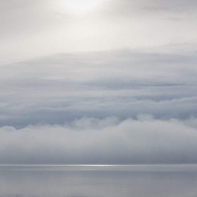 """Fog Bank on River Forth, Scotland"" stock image"